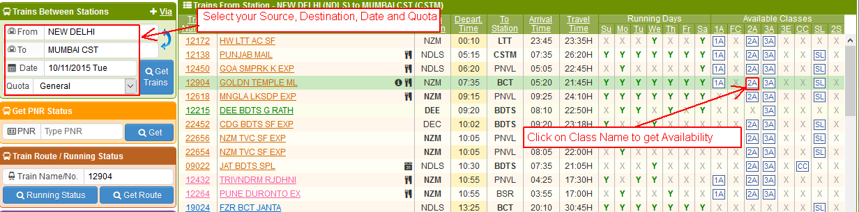 Indian Railway & IRCTC Train Timings, Trains between Stations Trying to  find info on Indian What is Premium Tatkal?